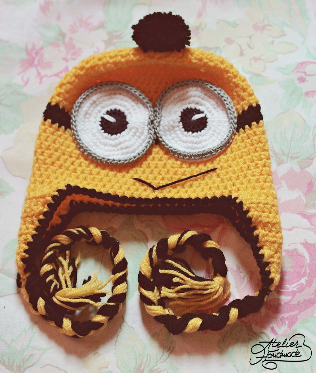 Crochet minion hat free pattern for baby sizes cum se croseteaza crochet minion hat free pattern for baby sizes cum se croseteaza o caciula minion bankloansurffo Image collections