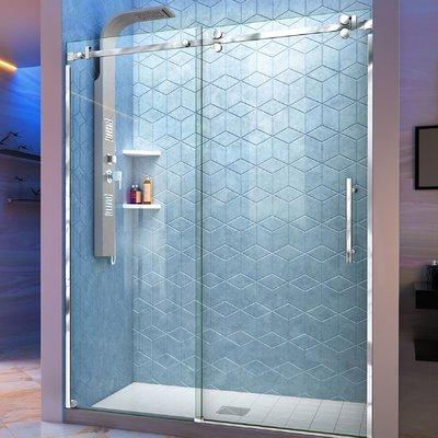 Dreamline Enigma Sky 56 W X 76 H Sliding Frameless Shower Door