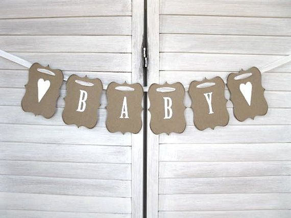 baby shower supplies  decor to buy on etsy  baby banners and, Baby shower invitation