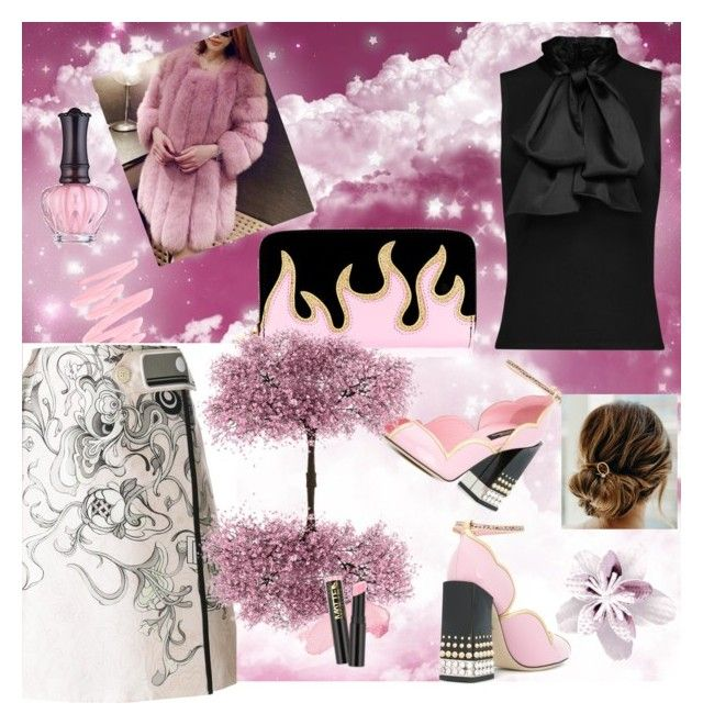 """Candy Clouds"" by ladyscarlet01 ❤ liked on Polyvore featuring Victoria's Secret, Dolce&Gabbana, Anna Sui and Prada"