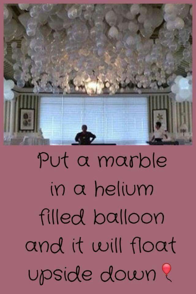 Upside down balloon Party Ideas Pinterest