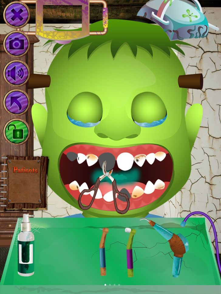 monster dentist app by ninjafish studios kids game halloween apps