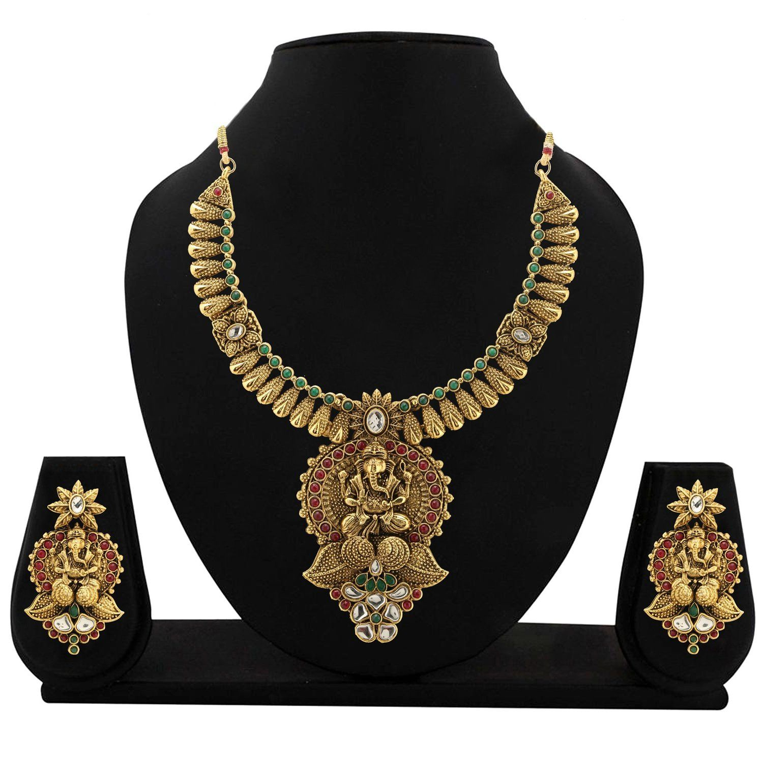 Buy Temple Jewellery Necklace Set By Zaveri Pearls Zpam17 Online At Low Prices In India Amazon Jeweller Temple Jewelry Necklace Amazon Jewelry Jewelry Stores