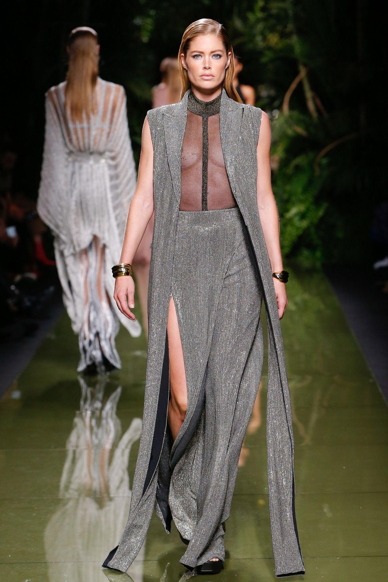 Balmain   Paris Fashion Week   Spring 2017 Model: Doutzen Kroes