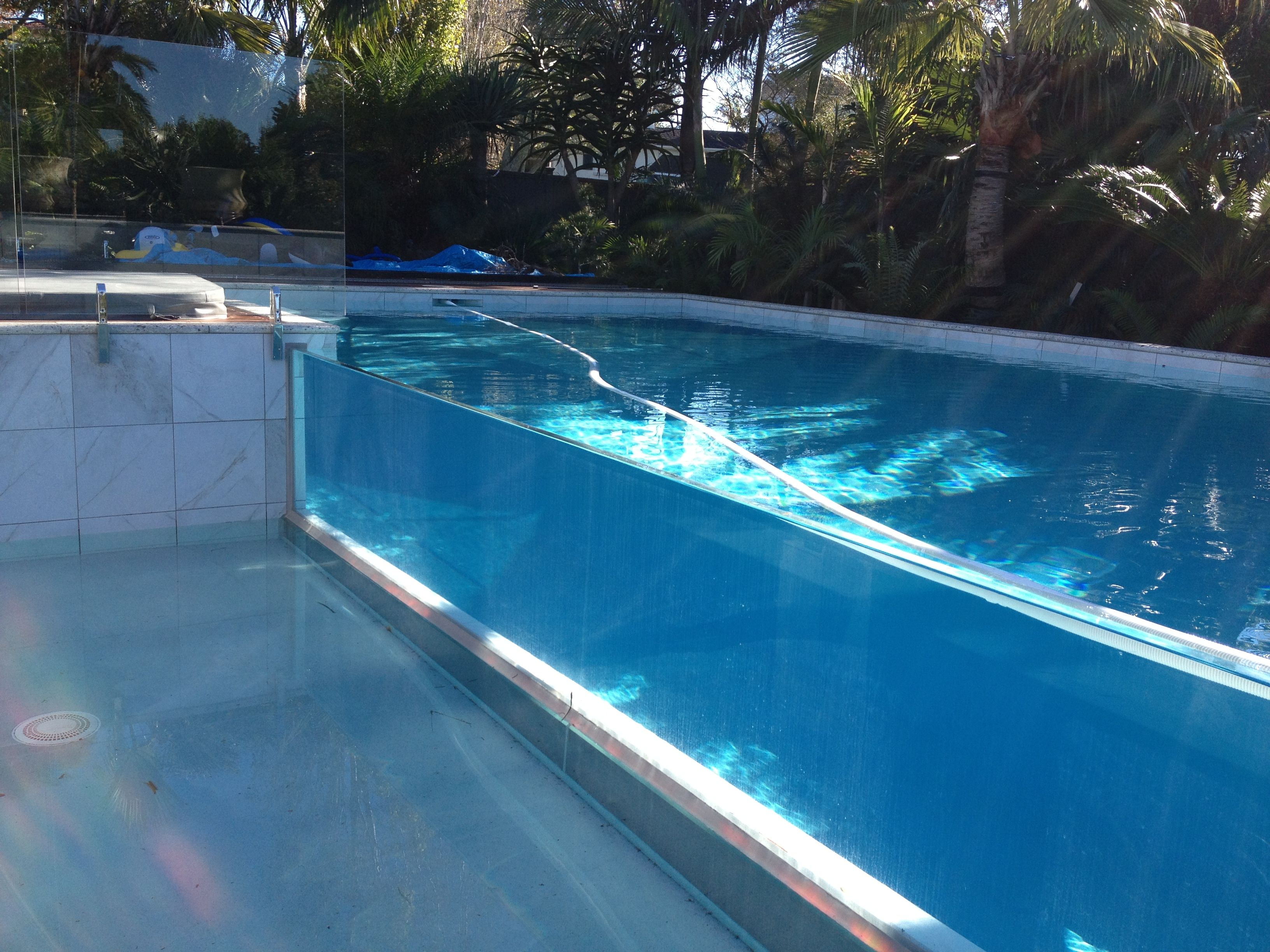 Glass Wall Swimming Pool With Support Of Our Excellent