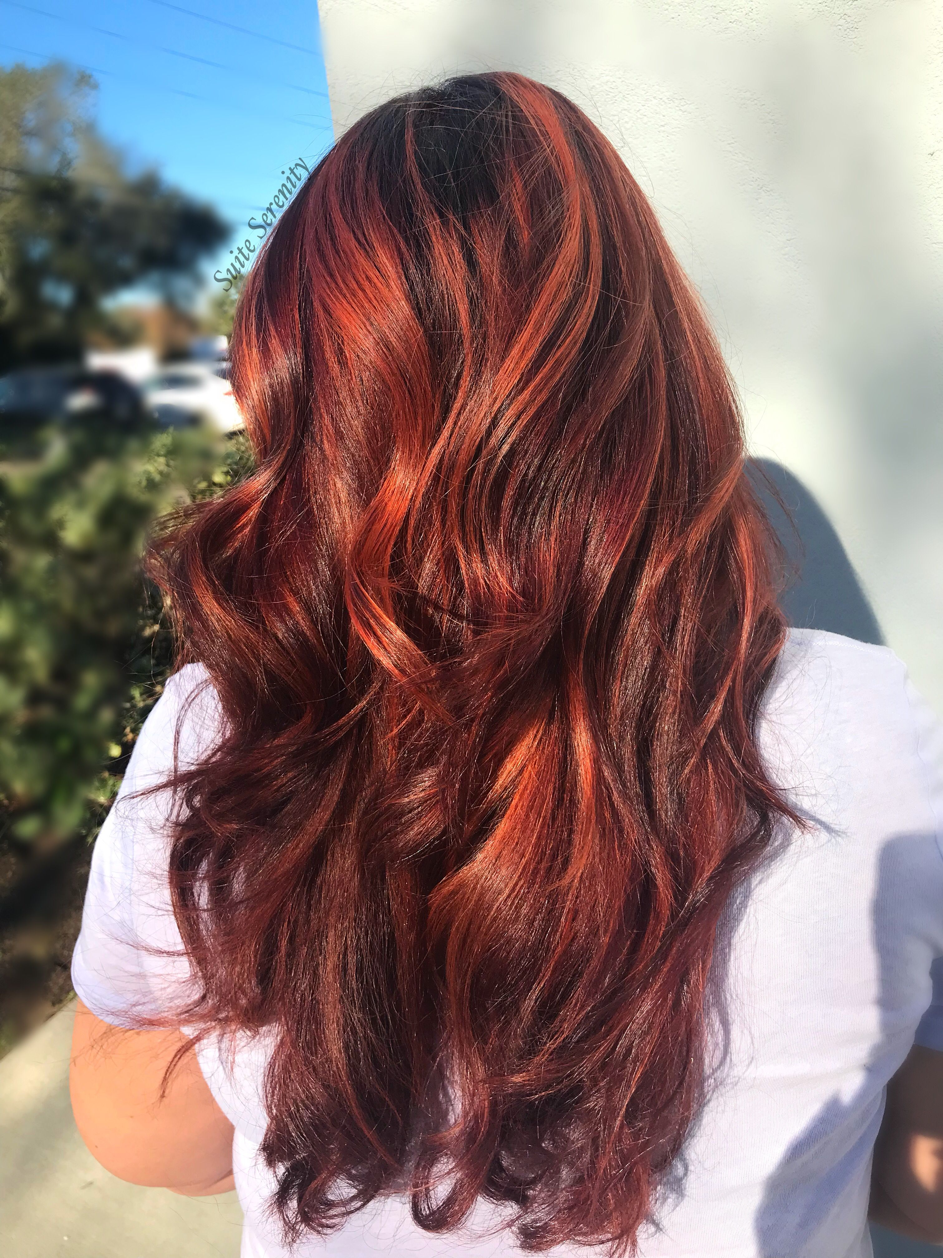 Red Hair Copper Red Hair Red Haircolor Long Hair Balayage With
