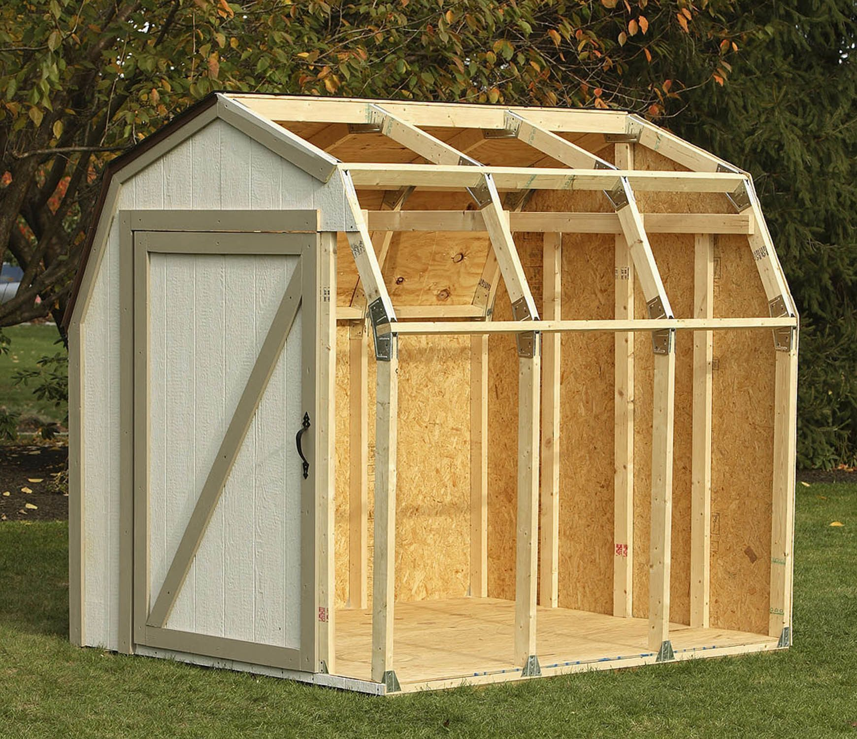 Shed Kit for Barn Roof construction schémas