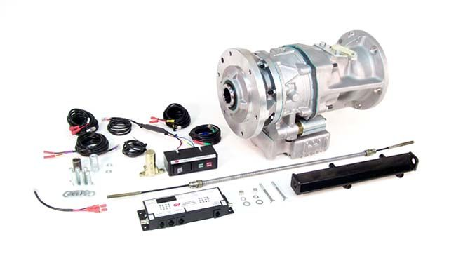 zf 5 speed manual transmission with driveline park brake  replaces tailhousing  park brake moved