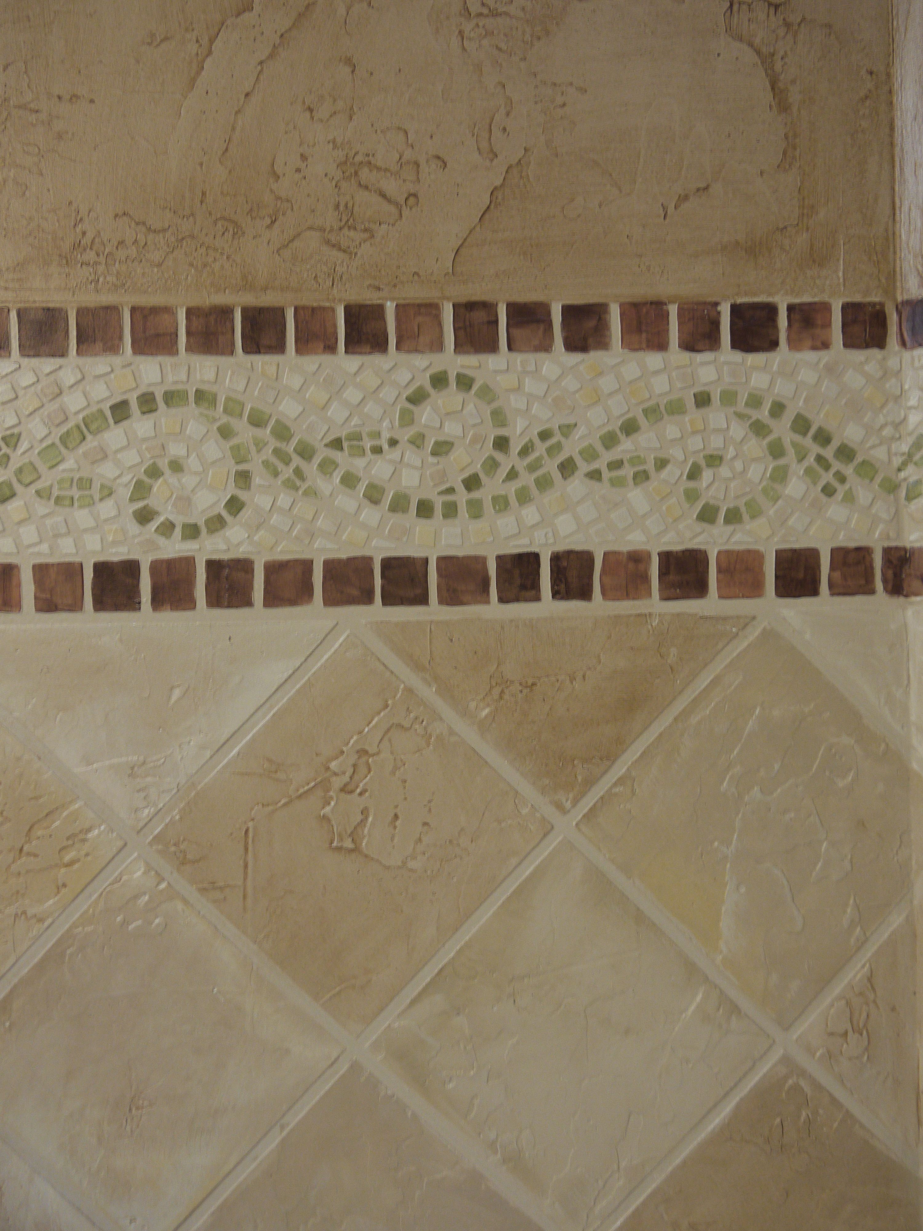 How to how to make faux mosaic and stone tiles using joint how to how to make faux mosaic and stone tiles using joint compound tutorial doublecrazyfo Images