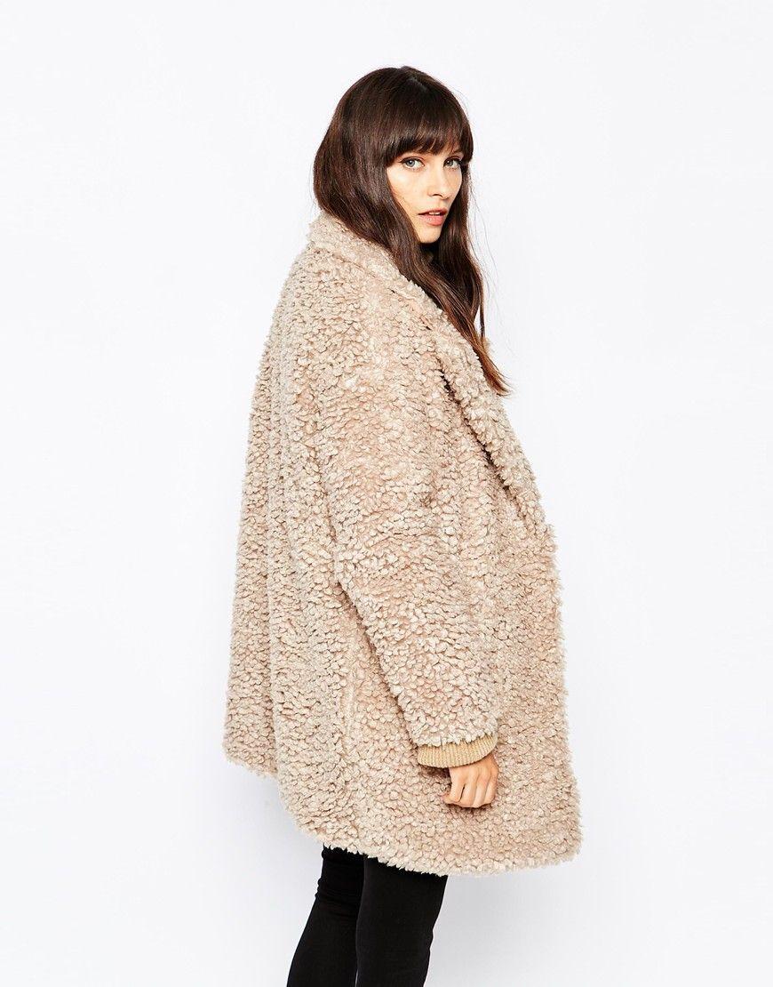 Image 2 of Paisie Fluffy Teddy Bear Coat