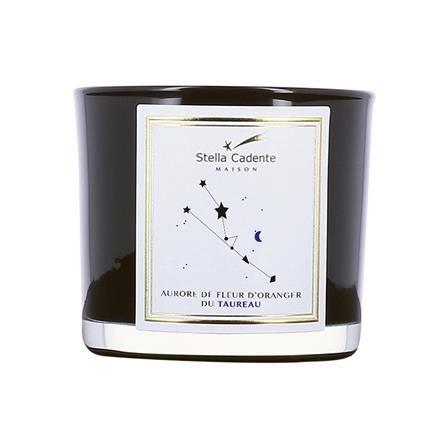 Stella Cadente Taurus Aurora Of Orange Flower Round Candle Black Round Candles Clothes Design Design