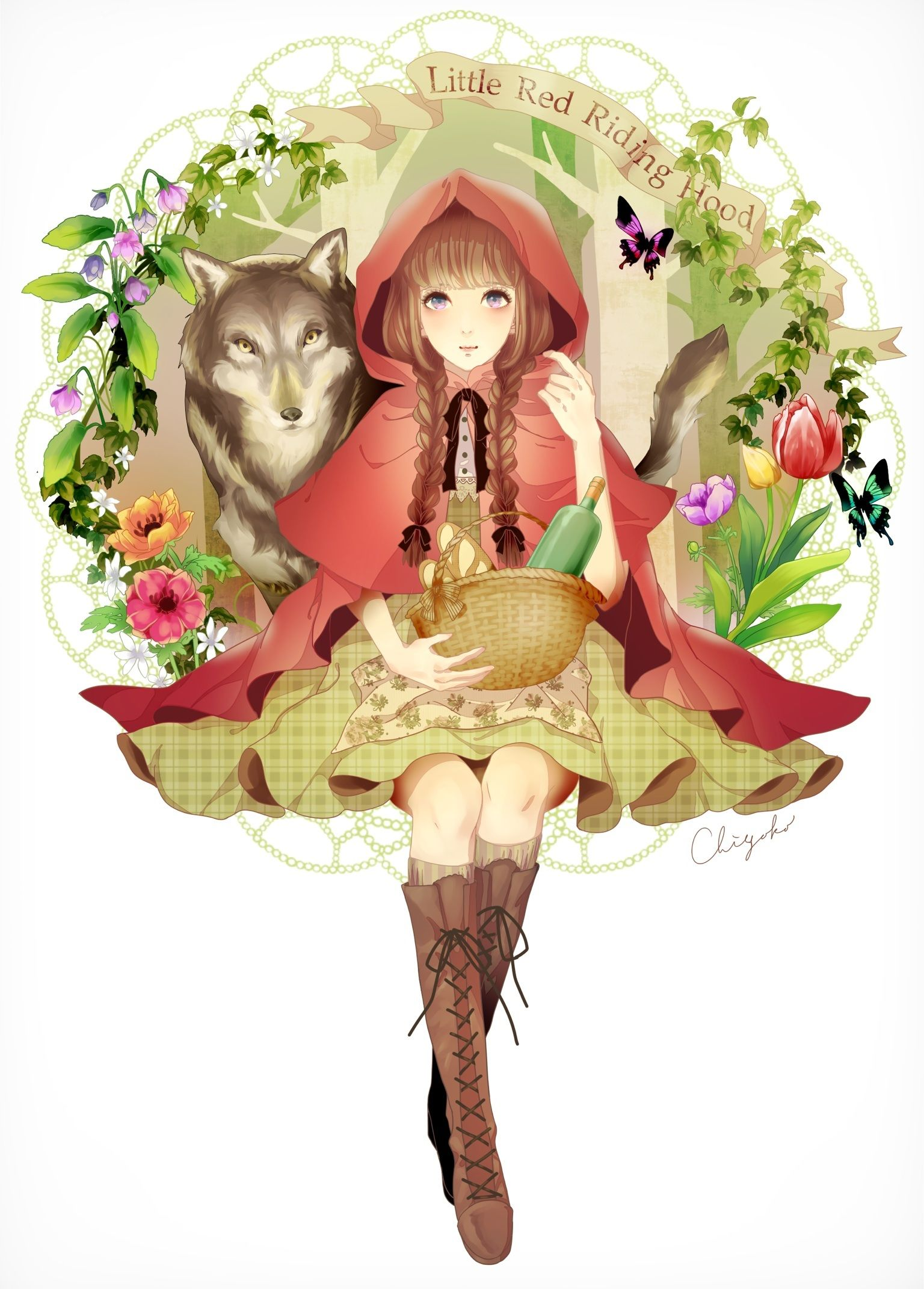 anime girl as red riding hood Anime in 2019