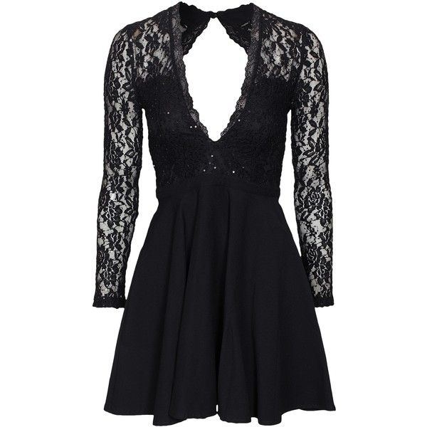 fadb116e3c63 Nly One Glam Lace Skater Dress (74 AUD) ❤ liked on Polyvore featuring  dresses