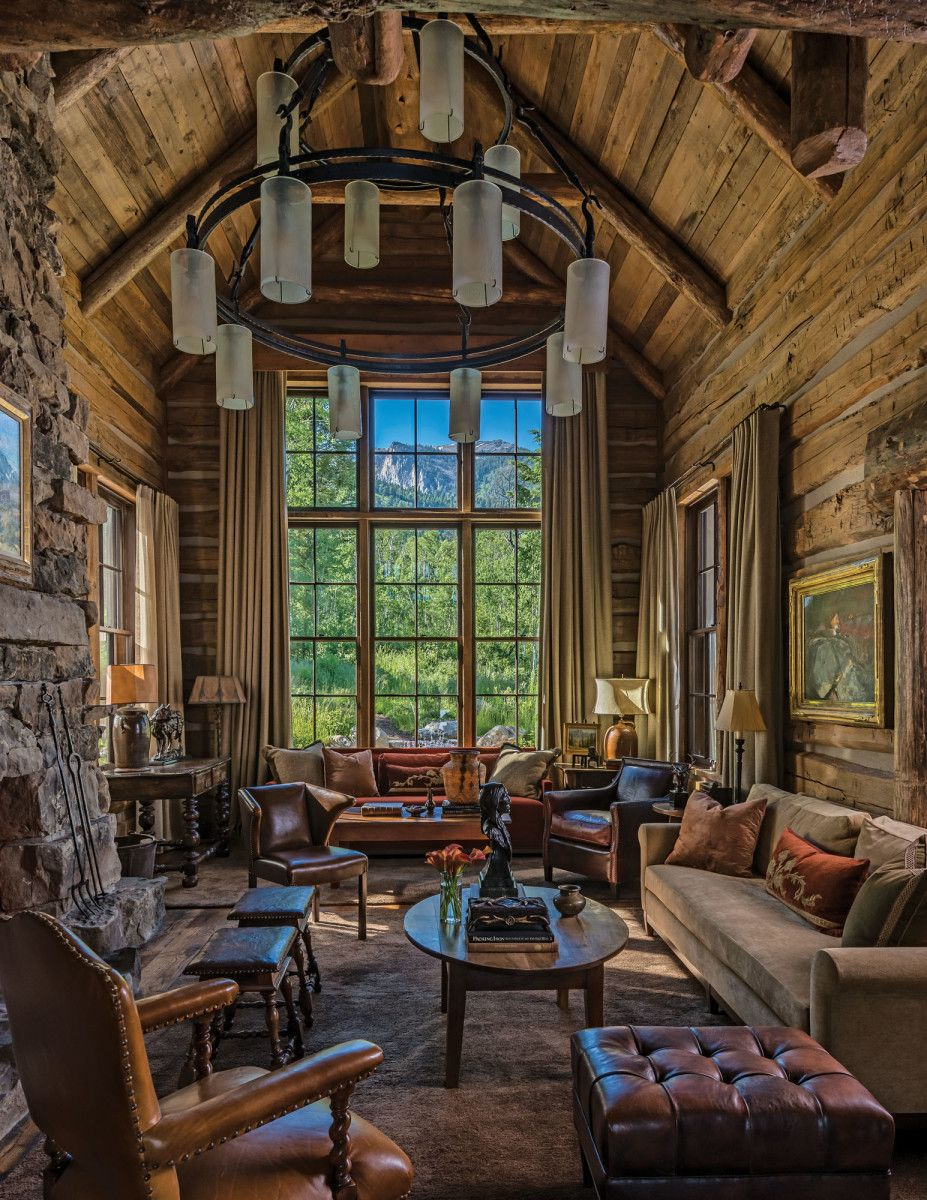 Peter Zimmerman Architectsu0027 Log Cabin In The Wyoming Woods   Classic Homes  Design And Restoration   Period Homes Magazine