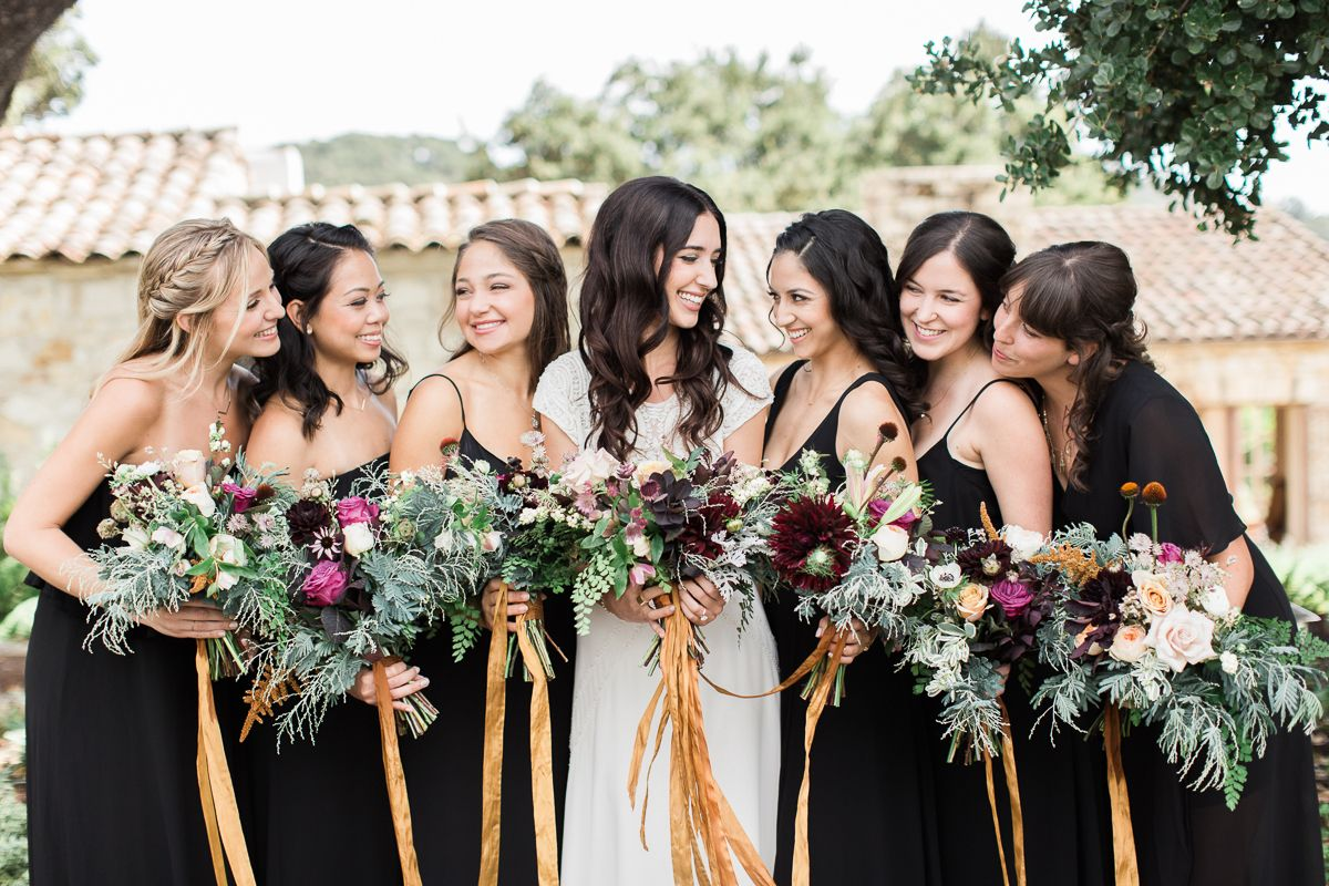 This two piece wedding dress is boho bridal goals bridesmaids in