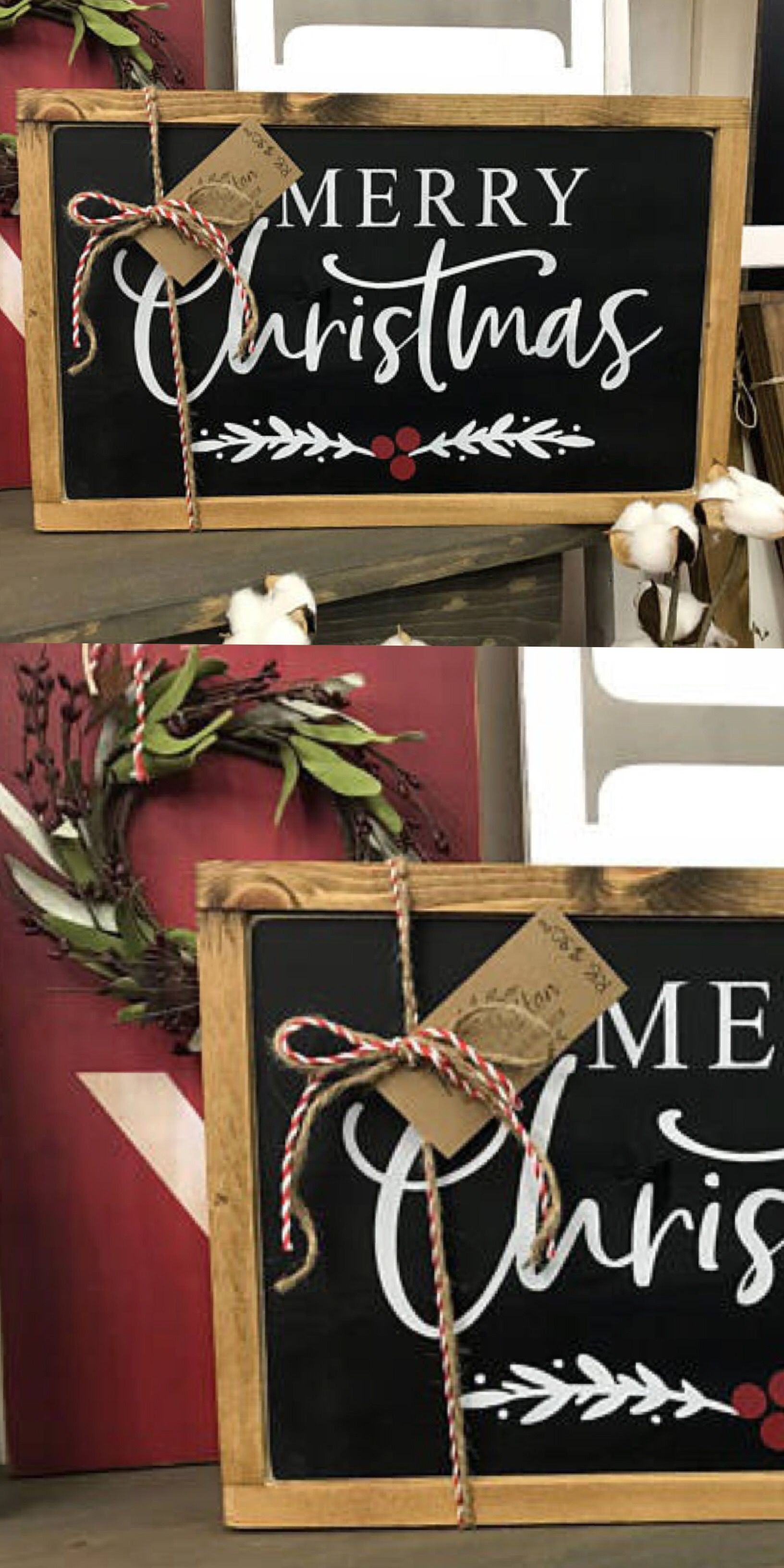 Ad Farmhouse Christmas Rustic Wood Sign Love This Merry Christmas Sign I M Loving The Black And W Christmas Signs Wood Christmas Wooden Signs Christmas Wood