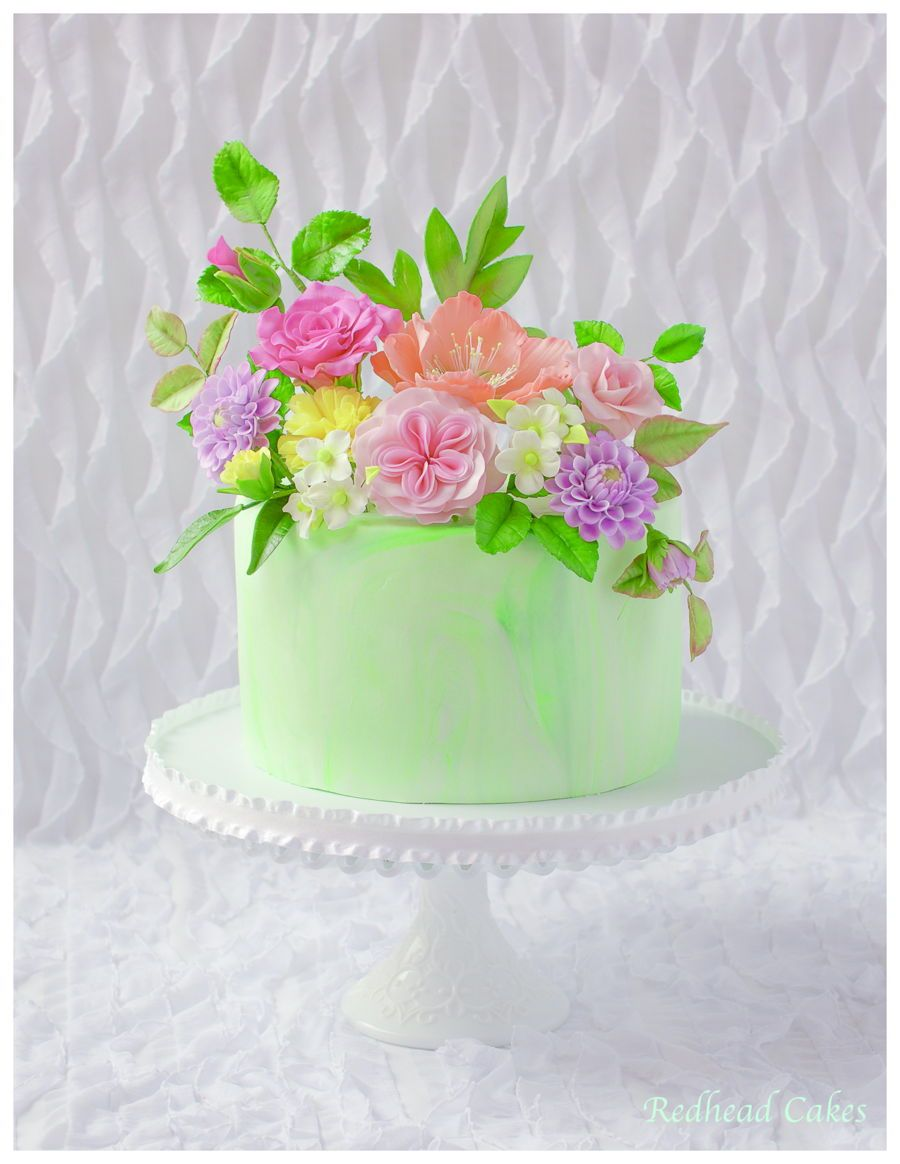 Flower cake for 70th birthday gum paste floral arrangement cake flower cake for 70th birthday gum paste floral arrangement cake izmirmasajfo