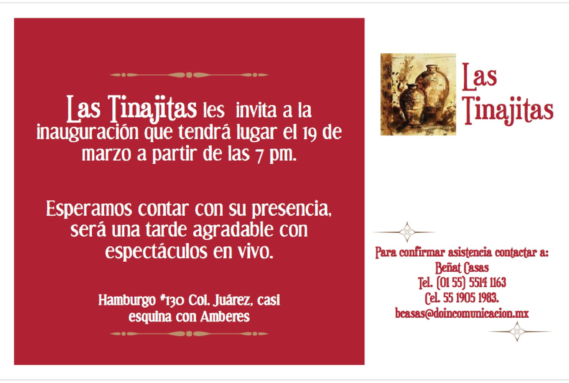 Empresa Las Tinajitas España Flyers Publicitarios Para