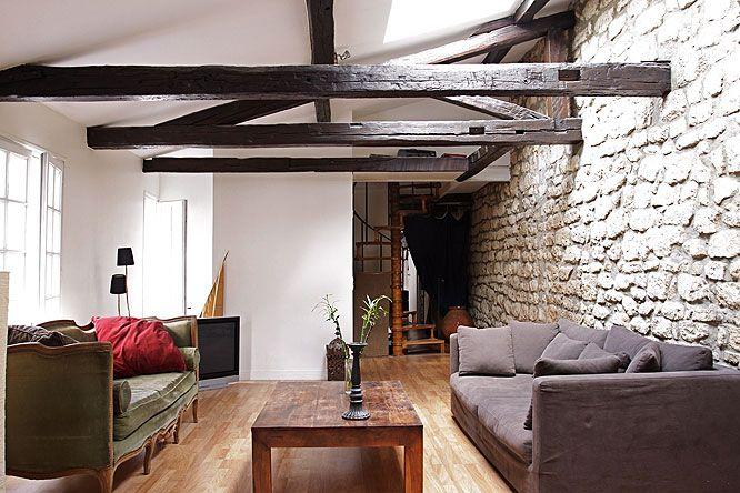 quelle d co pour une maison ancienne poutres pierres une maison qui nous ressemblerait. Black Bedroom Furniture Sets. Home Design Ideas