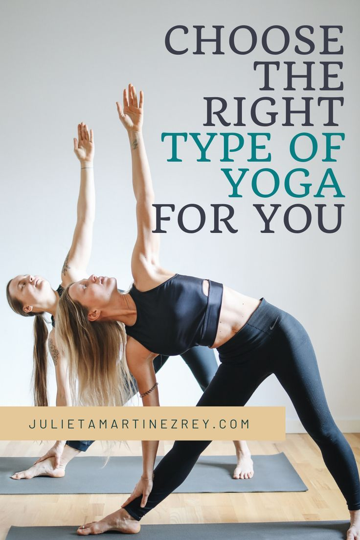 Do you have a goal that you would like to achieve practicing Yoga? Here you can find all the different types depending on your goal! #yoga #fitness #wellness #meditation