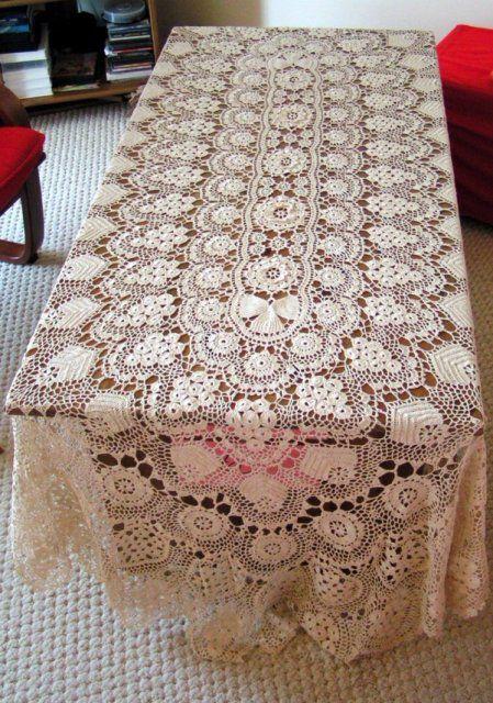 Croche com linha fina