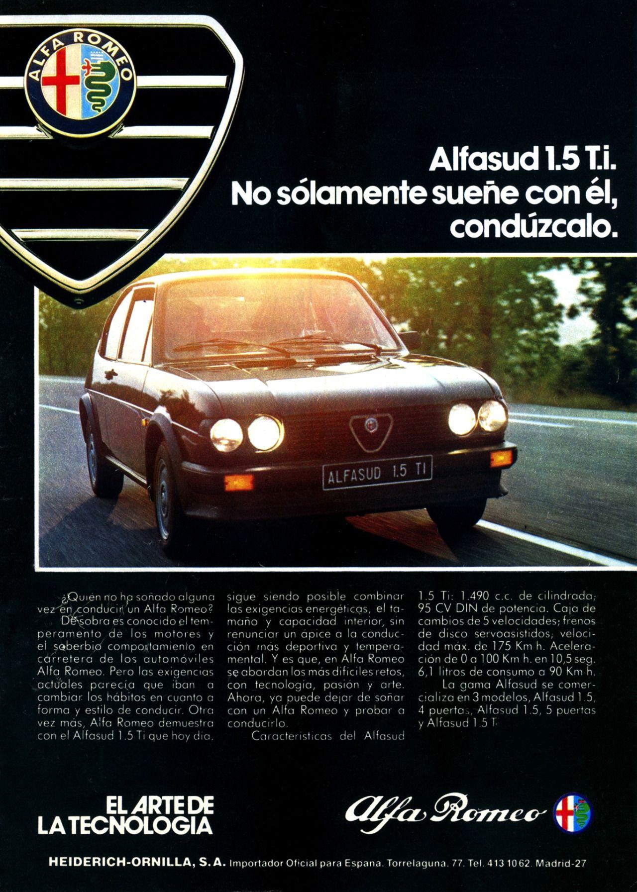 Alfa Romeo Alfasud 1980s ALFA ROMEO Alfasud