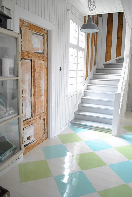 love these painted floors
