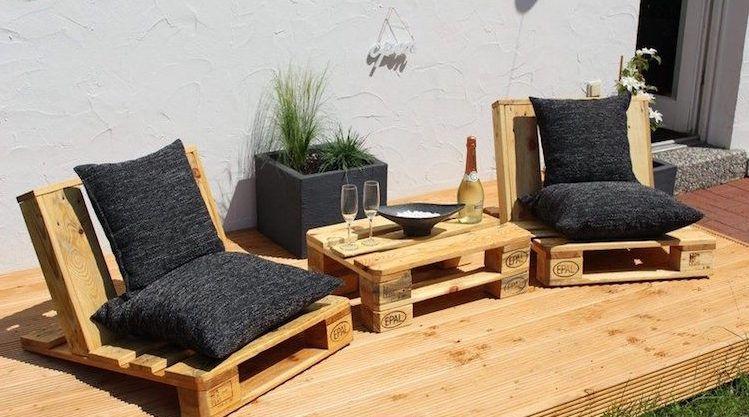Salon de jardin en palette –une solution écolo offrant de nombreuses ...