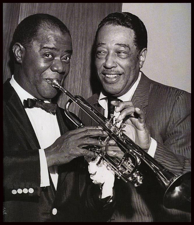 Louis Armstrong Duke Ellington Jazz Musicians Jazz Music Louis Armstrong