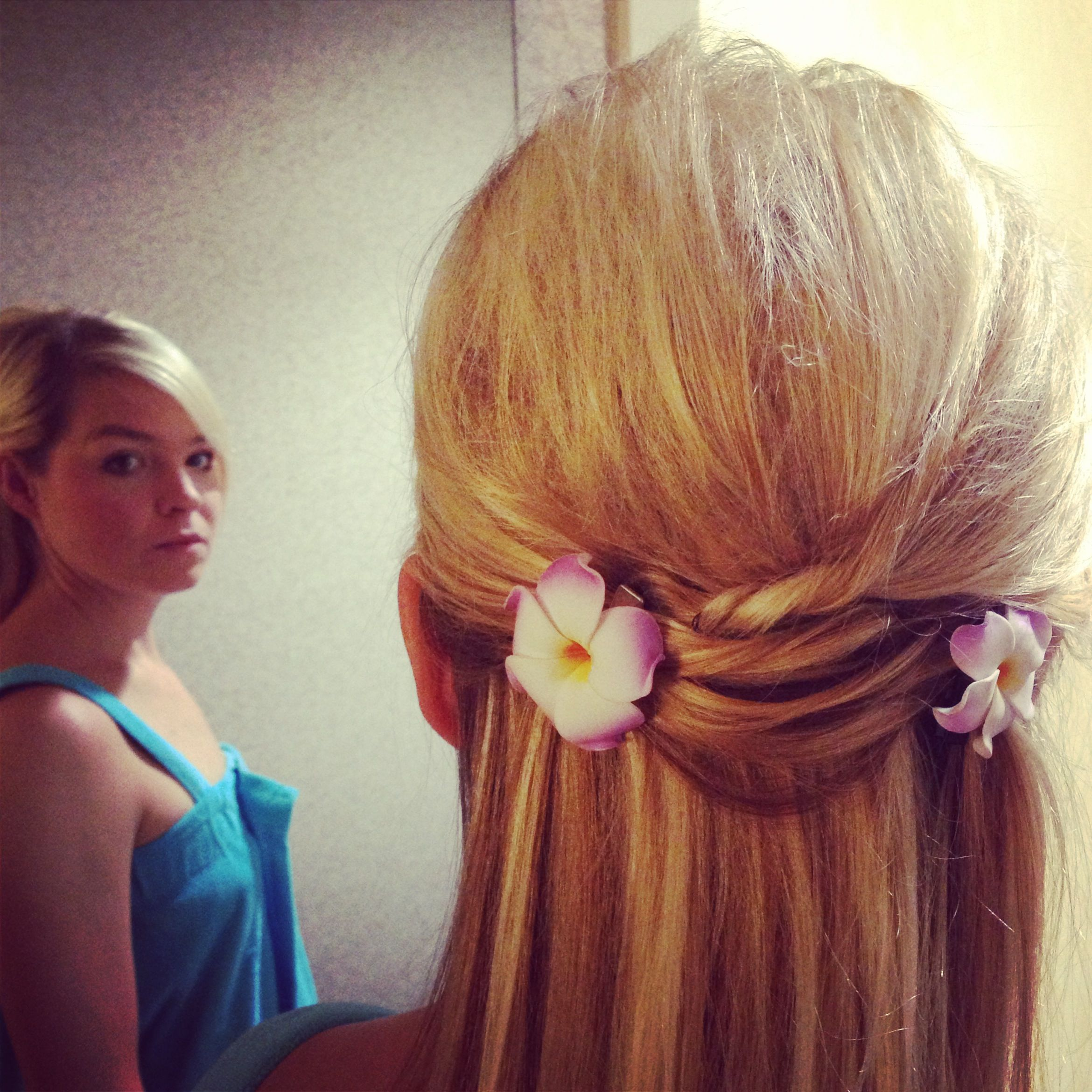 ready or not. half up-do by | flight attendant hairstyles