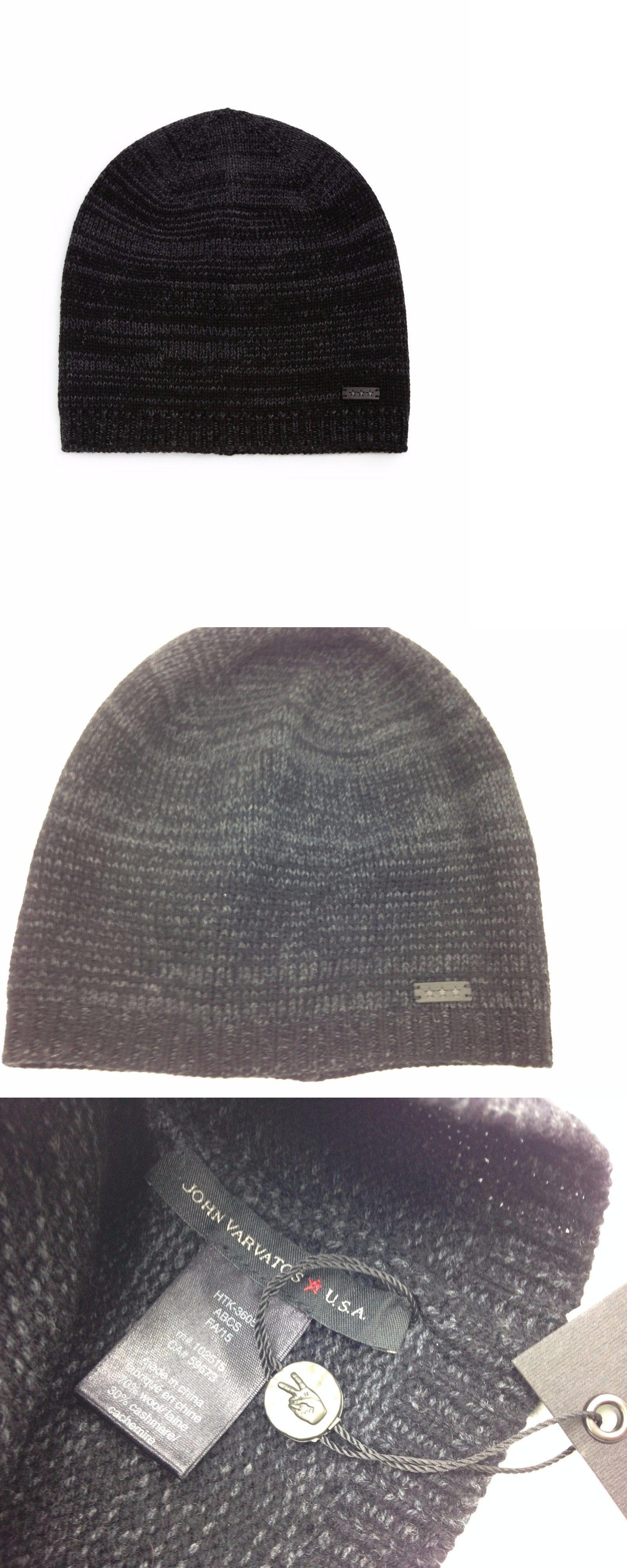 Hats 57884   180 John Varvatos Kids Gray Black Cap Hat Winter Warm Wool  Cashmere Warm 8a332fafdbe