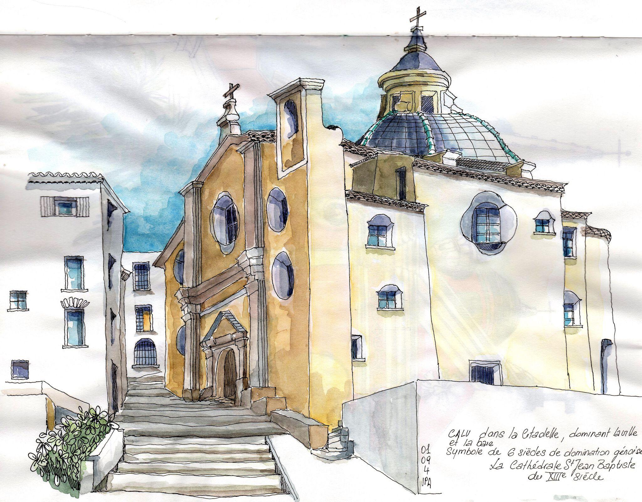 A Calvi Haute Corse aquarelle Pinterest