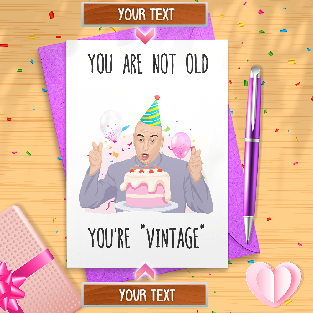 Funny Dr Evil Air Quote Birthday Card Austin Power Meme Etsy Birthday Cards Happy Birthday Meme Cards