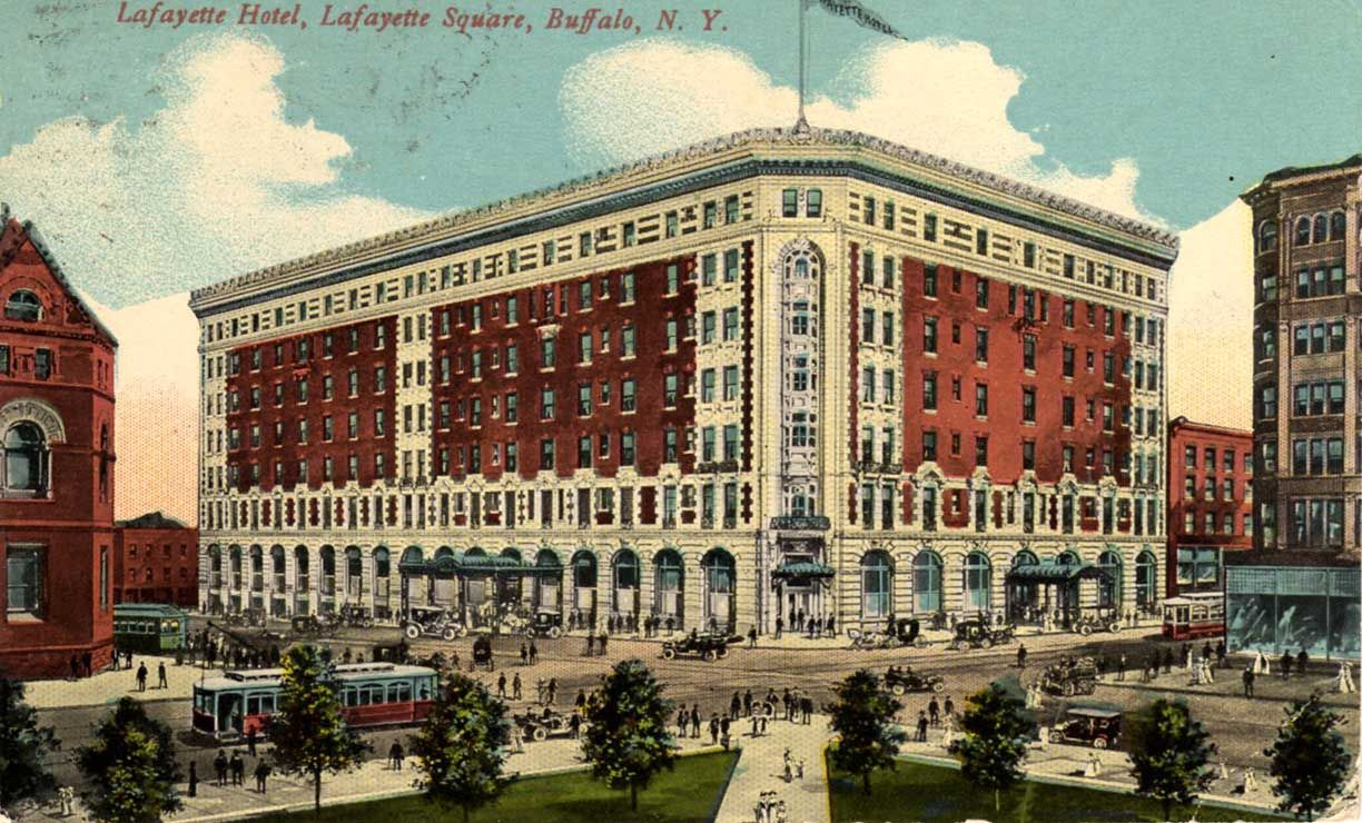 The Lafayette Hotel Buffalo Ny Where My Grandfather Ray C Williamson Lived From