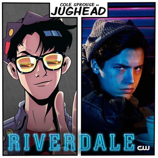 RIVERDALE  le bonnet de Jughead , Jughead knit beanie , Fringues de séries