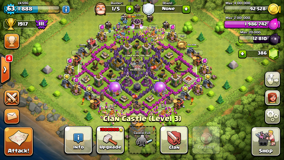 Voluptuoustacos Clash Of Clans Stingray Th7 Farming Base Design Free To Play Mmorpg Guides Clash Of Clans Clan Farm