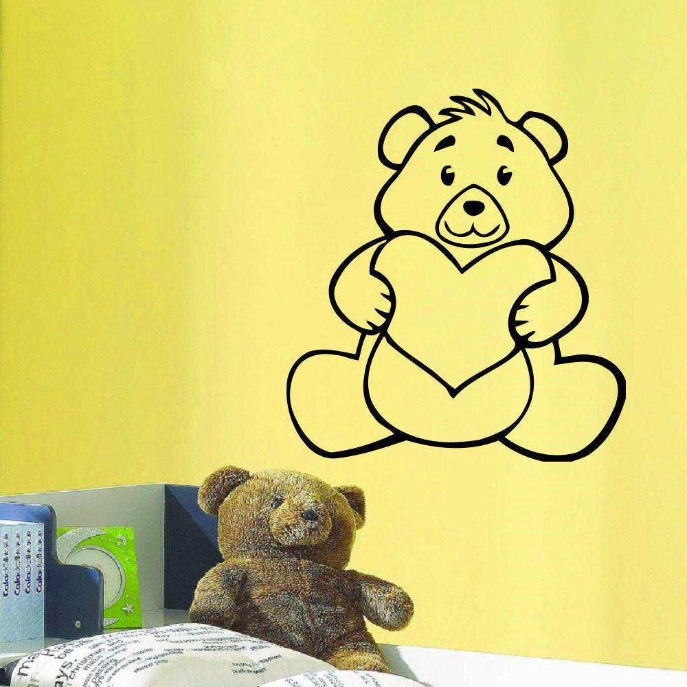 Heart Little Bear Wall Art Sticker Decal | Products | Pinterest ...