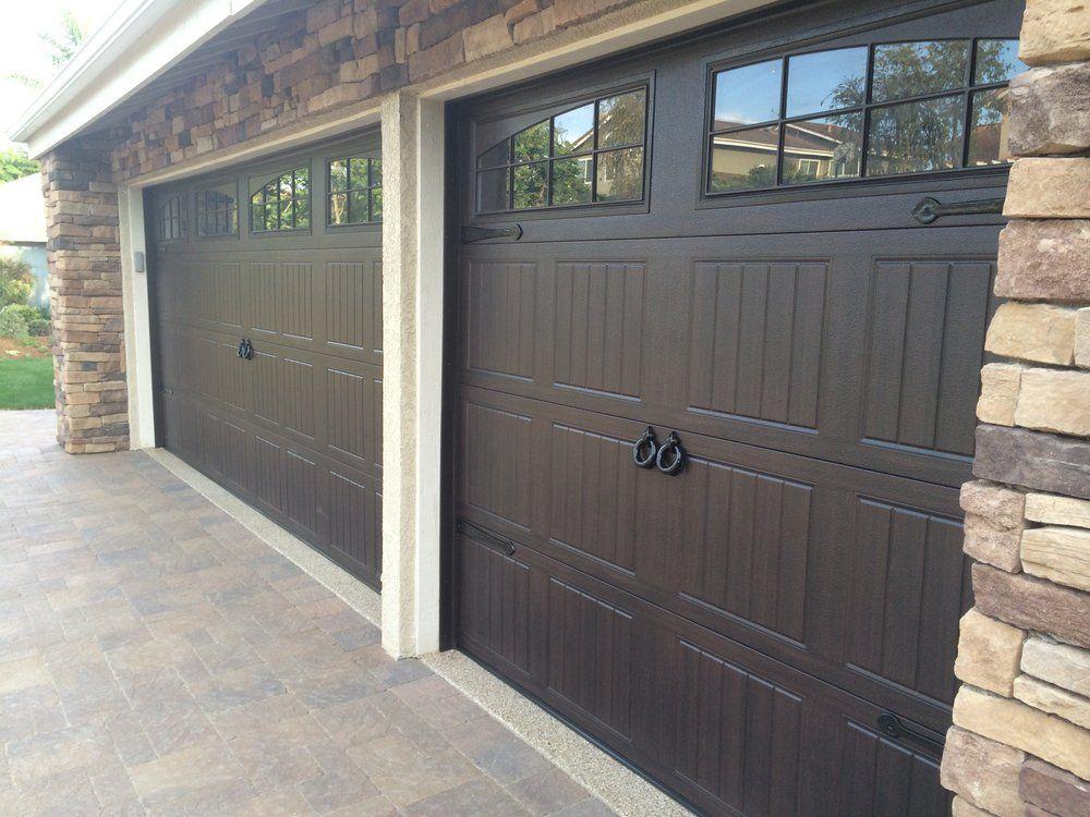 Wayne Dalton 8300 Walnut Sonoma Panel Garage Doors Garage