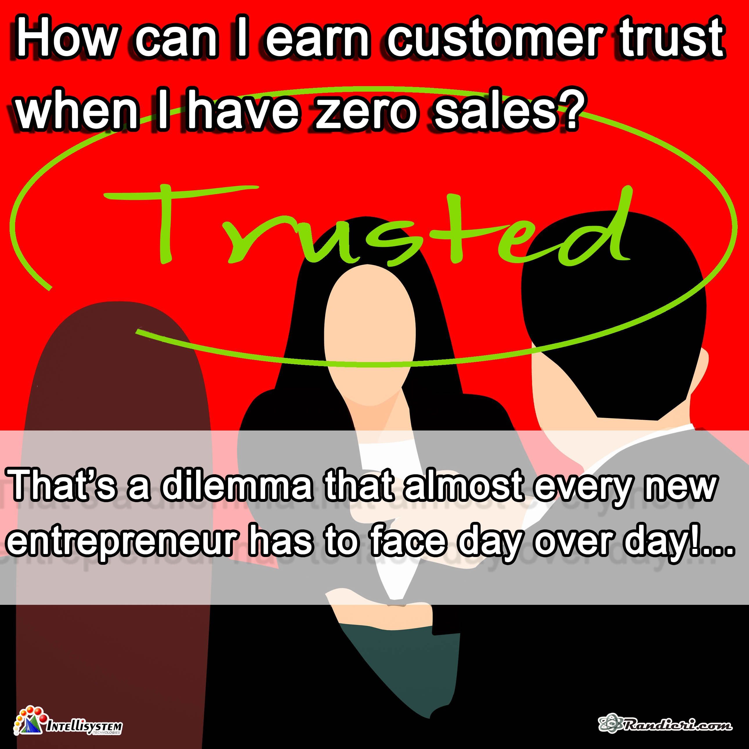 English How Can I Earn Customer Trust When I Have Zero Sales Inglese