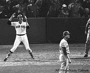 UNH Alum Carlton Fisk played with the Boston Red Sox and Chicago White Sox.