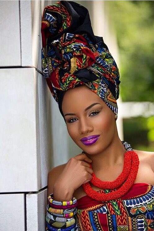 coiffure africaine avec foulard