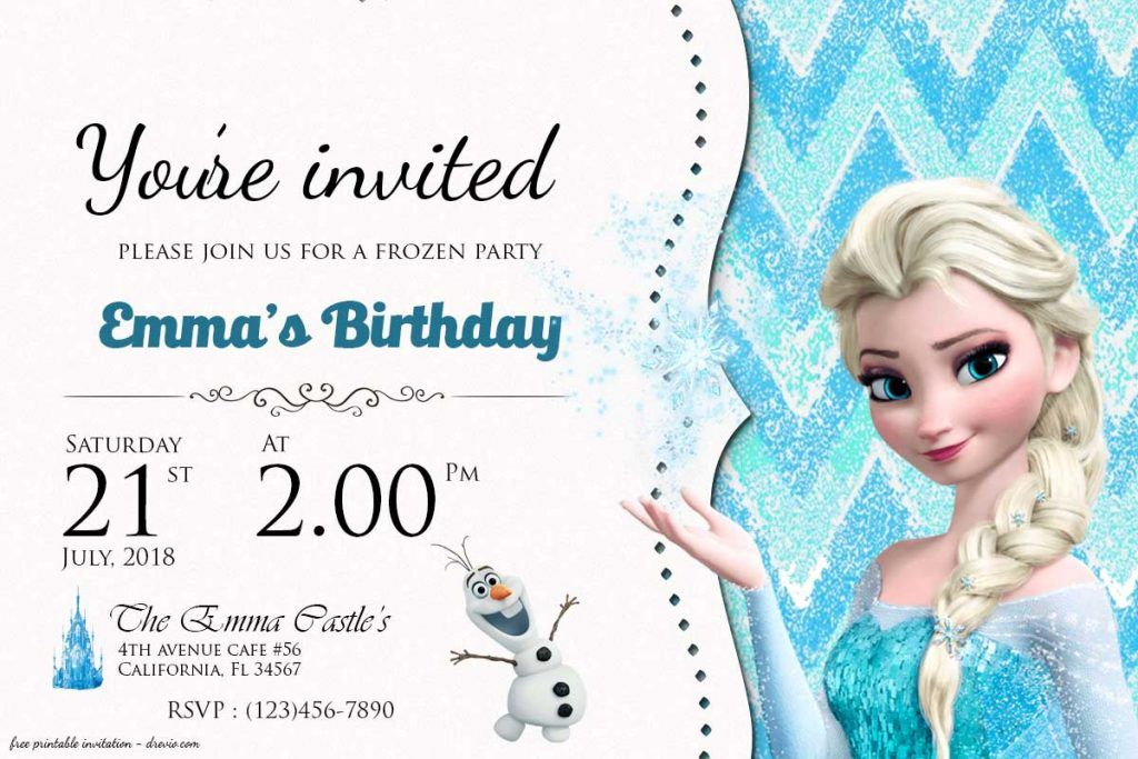 image regarding Frozen Birthday Card Printable known as Absolutely free Frozen Birthday Invitation Birthday: Frozen