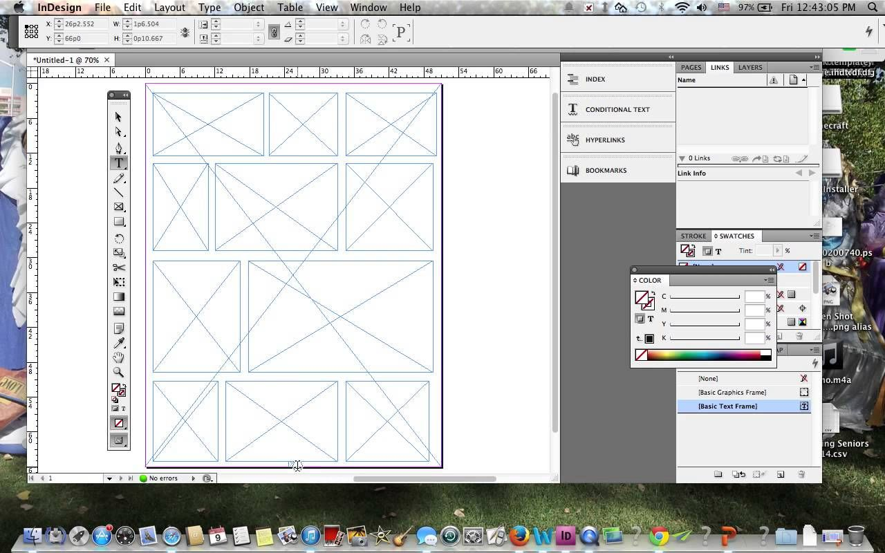 Making a Yearbook Template in Adobe Indesign | Ilustrator and ...