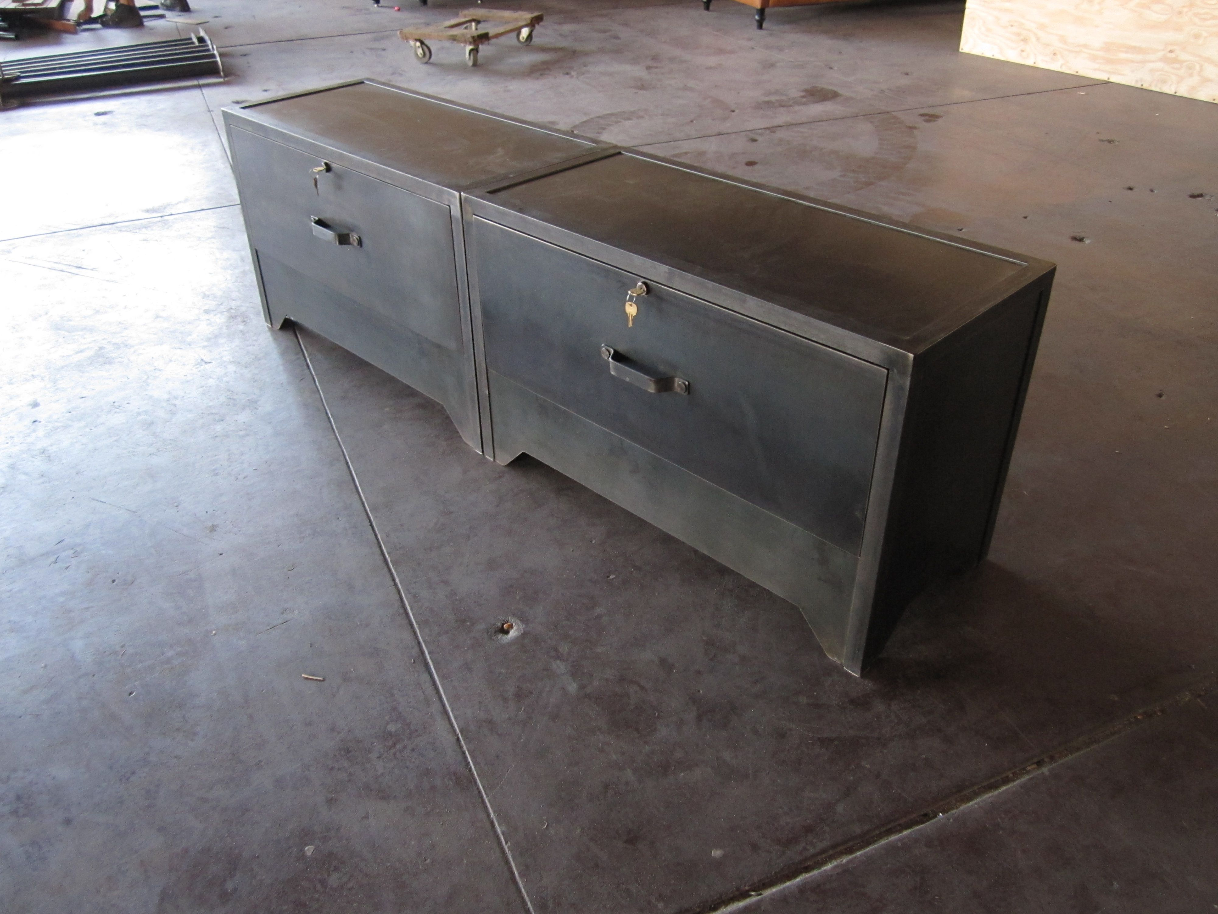 Custom Lateral File Cabinets Vintage Industrial Furniture