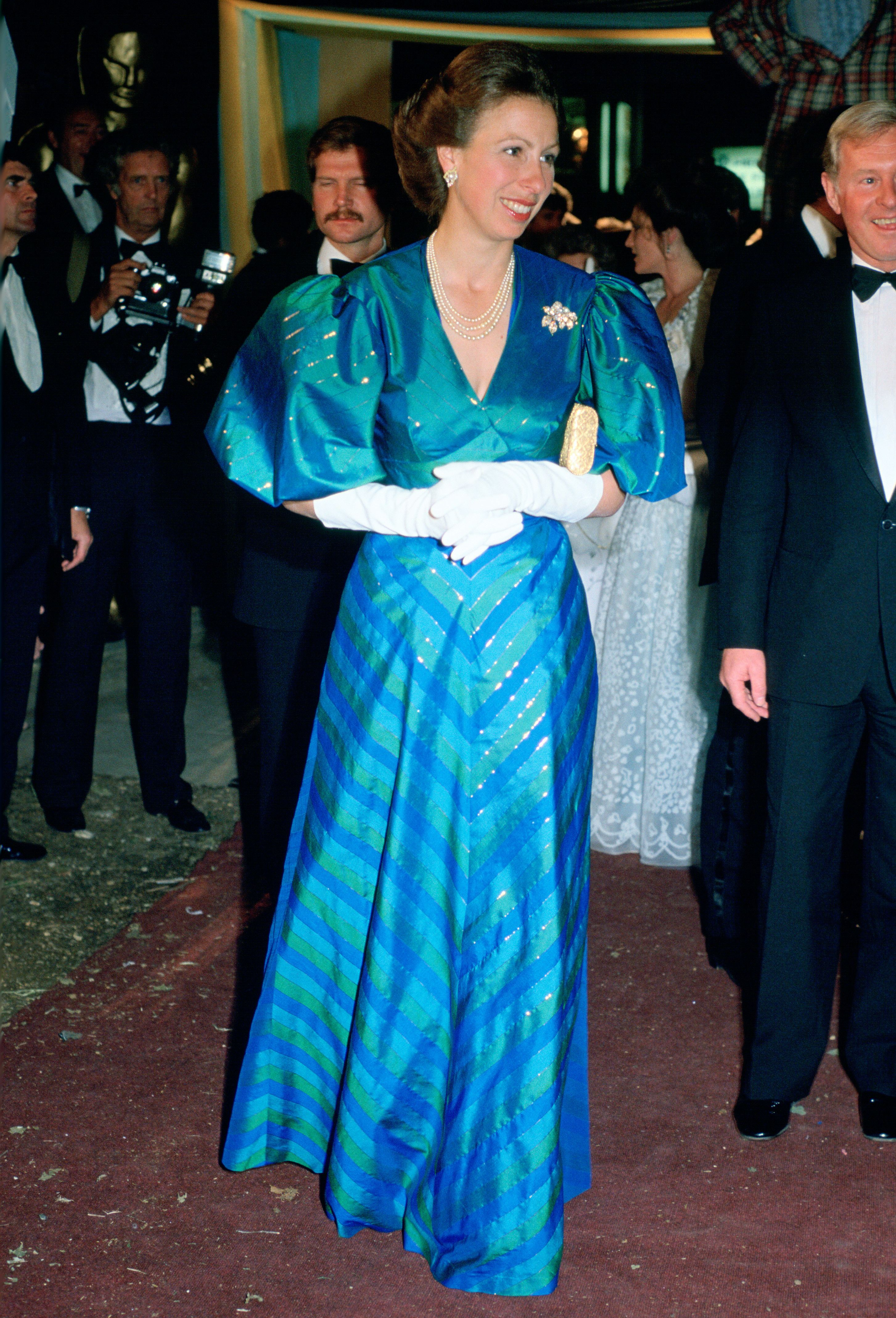 The Most Colorful Royal Dresses Ever Worn In 2021 Green Evening Dress Royal Dresses Princess Anne [ 4272 x 2906 Pixel ]