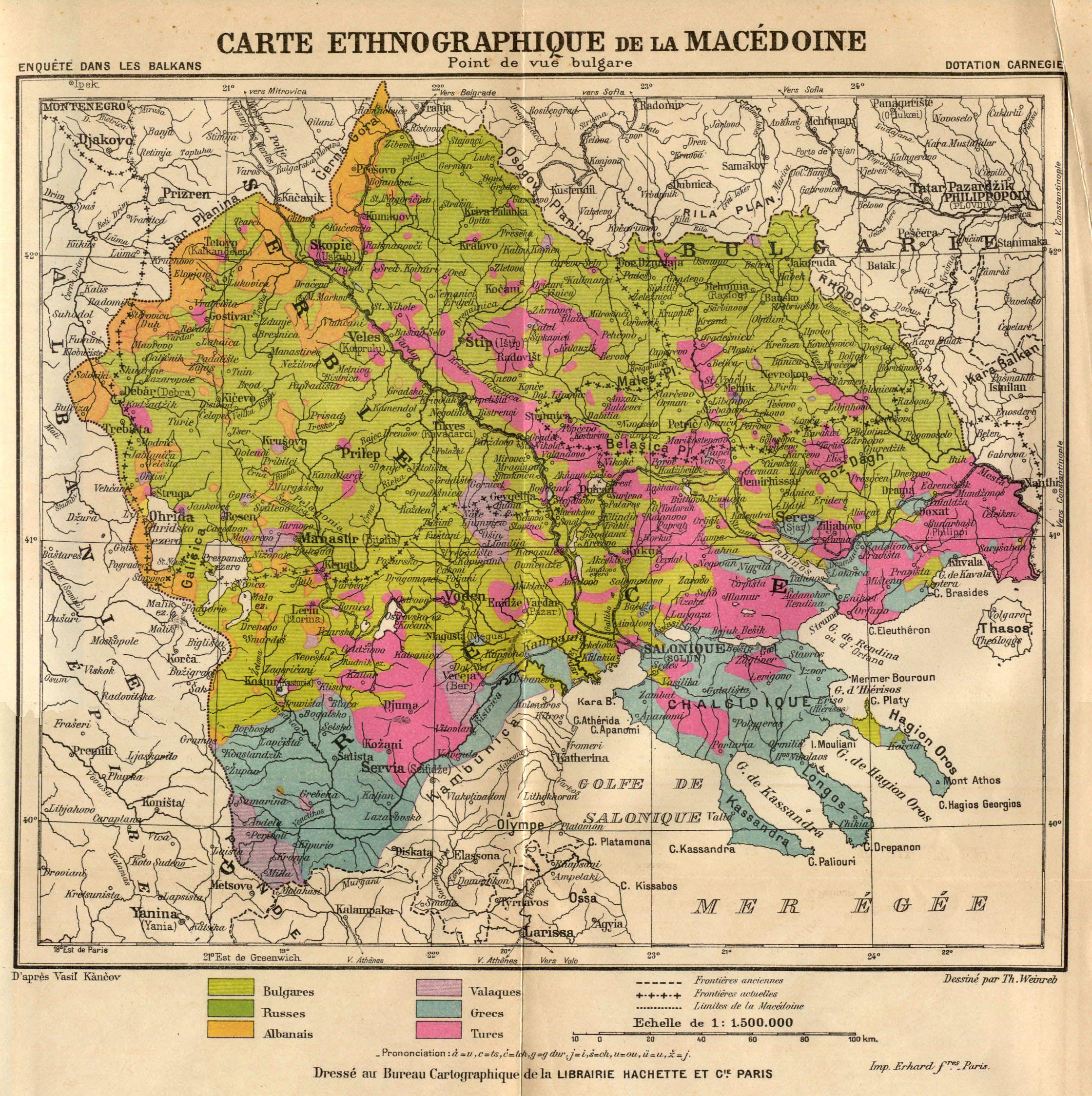 Bulgarian version of ethnographic Macedonia, 1914