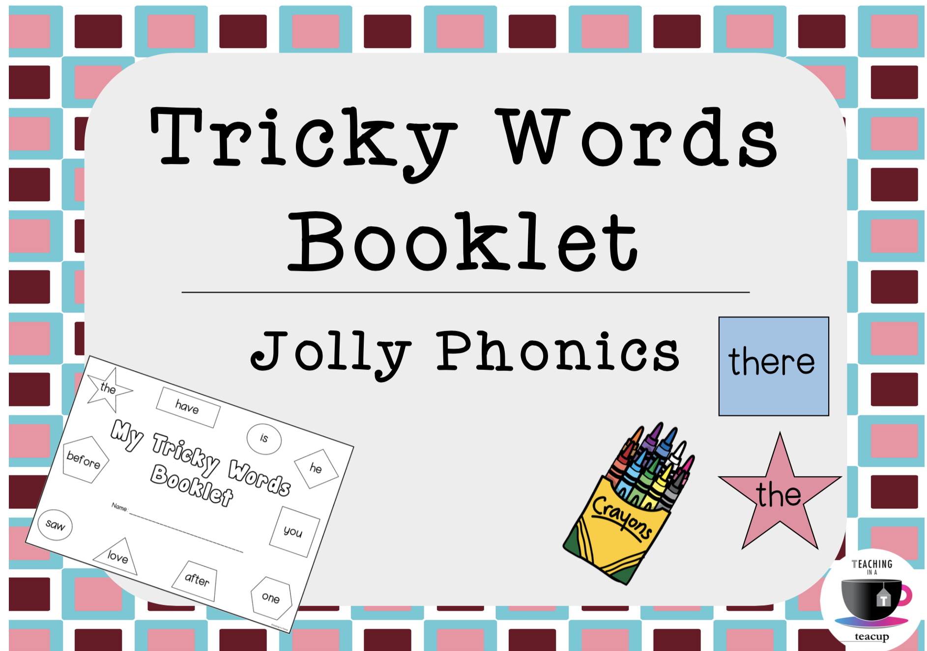 Jolly Phonics Tricky Words Booklet