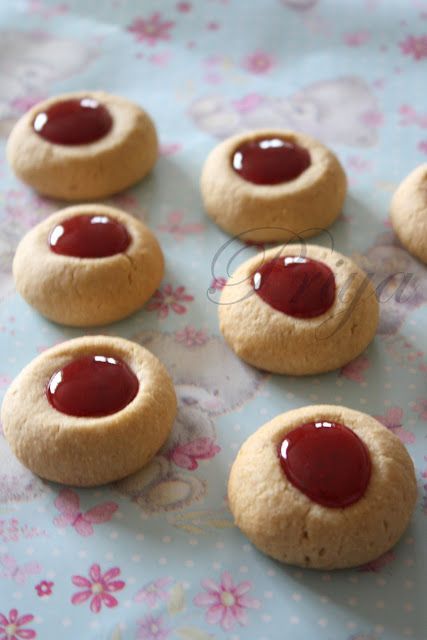Photo of Thumbprint Cookies with almonds