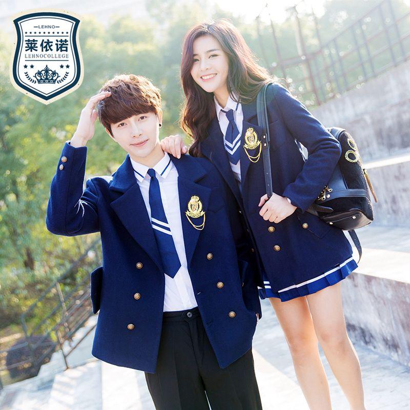 Muitas vezes British School Uniforms Fashion Boys&Girls Students Suits High  MV25