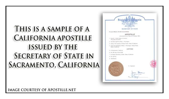 this is a sample of a California apostille issued by the Secretary - copy fresno california birth certificates